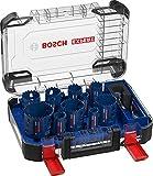 Bosch Professional 14 x Set de sierras de corona Expert Tough Material, para Madera con metal, 20-76 mm, Accesorios Taladro de impacto rotativo