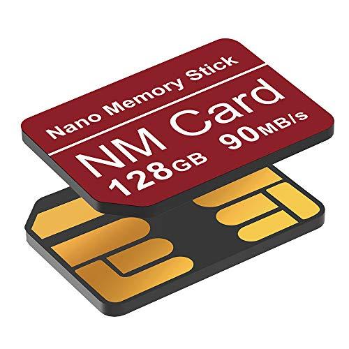 YAOMAISI NM-Karte 128GB 90MB/S Nano-Speicherkarte Nano-Karte Nur für Huawei P30/P30pro/P40-Serie/Mate20-Serie/Mate30-Serie Nano 128 GB-Karte geeignet(Rot)