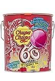 Chupa Chups - Caramelo con Palo de Sabores Variados - Lata de 150 unidades de 12 gr/ud