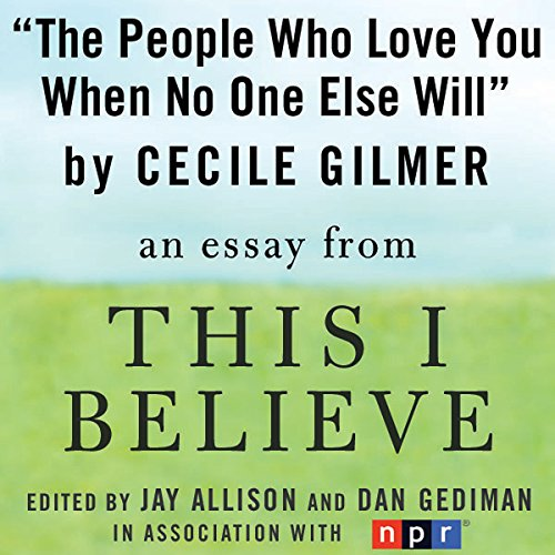 The People Who Love You When No One Else Will audiobook cover art