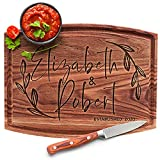 Personalized Cutting Board, 11 Designs, 5 Wood Styles Cutting Board - Wedding Gifts for the Couples, Housewarming Gifts, Anniversary Gift for Her, Gift for Parents and Grandma, Engraved Kitchen Sign