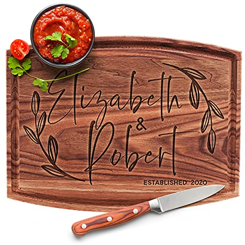 Personalized Cutting Board, 11 Designs, 6 Wood Styles Cutting Board - Wedding Gifts for the Couples, Housewarming Gifts, Anniversary Gift for Her, Gift for Parents and Grandma, Engraved Kitchen Sign