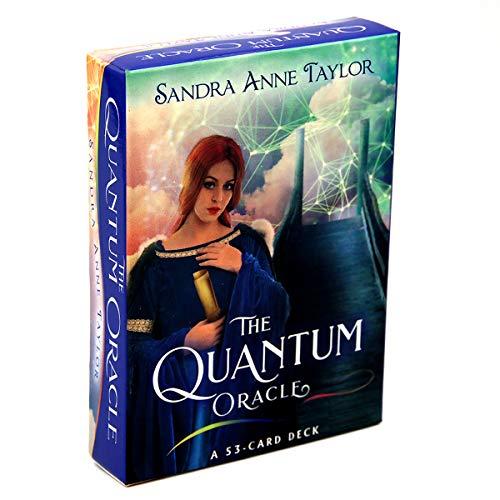 C-Y The Quantum Oracle Tarotkarten Kartenspiel Tarot-Kartenspiel Kartenspiel Spielkarte Lustige Wahrsagung Spielzeug für Familie Freund Party Unterhaltung