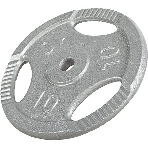 GORILLA SPORTS® Hantelscheiben-Set 30 kg Gusseisen Gripper – 2 x 15 kg Gewichte mit 30/31 mm Bohrung