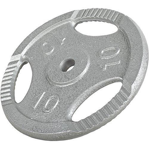 GORILLA SPORTS® Hantelscheiben Einzeln/Set Gusseisen Gripper - 0,5-20 kg Gewichte mit 30/31 mm Bohrung Schwarz/Silber/Gold (Silber, 2 KG (4x0,5KG))
