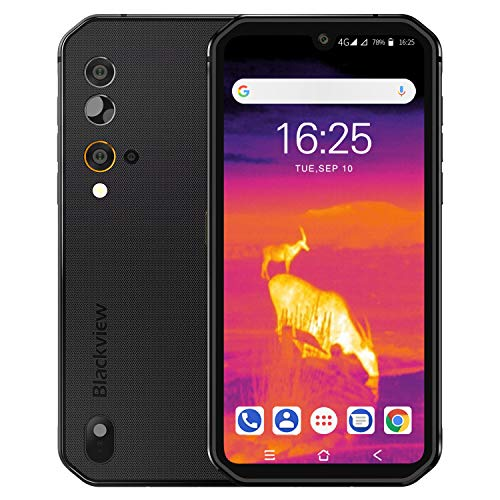 """Rugged Cell Phone Unlocked Blackview BV9900Pro(2020), Thermal Imaging Helio P90 8GB+128GB Waterproof Smartphone 48MP+16MP, Wireless Charging 5.84"""" FHD+ Global 4G LTE GSM AT&T T-Mobile Dual SIM Phone"""