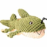 Patchwork Pet Dog Toy, Shark, 10' L, Green