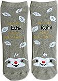 Die Geschenkewelt Happy Life 45593 Zauber-Socken mit Spruch In der Ruhe liegt die Kraft, mit Faultier Geschenk-Artikel, 80prozent Baumwolle, 15prozent Nylon, 5prozent Elastan, Beige, Größe 36-40