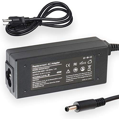 45W Laptop Charger for Dell Inspiron 13 14 15 17 3000 5000 7000 Series 3451 5451 7437 19.5V 2.31A Connecter size 4.5mm×3.0 mm