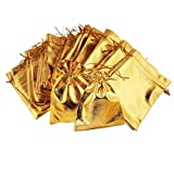 Demarkt 10x Schmuck Beutel Säckchen Geschenk Taschen Für Festival Party und Hochzeit Gold 7 * 9cm