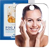 The Shave Well Company Original Anti-Fog Shaving Mirror | Fogless Bathroom Handheld Mirror for Men and Women | Long-Lasting Removable Adhesive Hook
