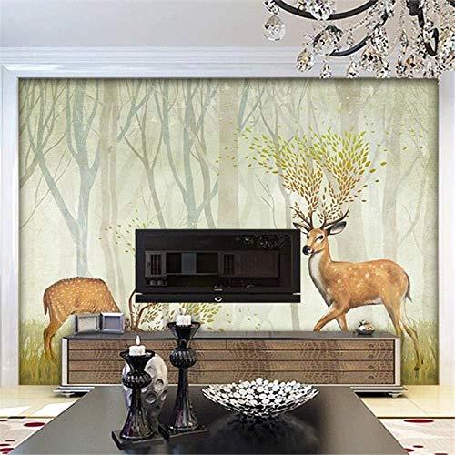 Wallpaper wandbehang Wall Art 3D Wallpaper slaapkamer woonkamer Nordic LulinTV wallpa muurschildering wallpaper bos zonder continuïteit_360cm(w) x230cm(h)(11'10