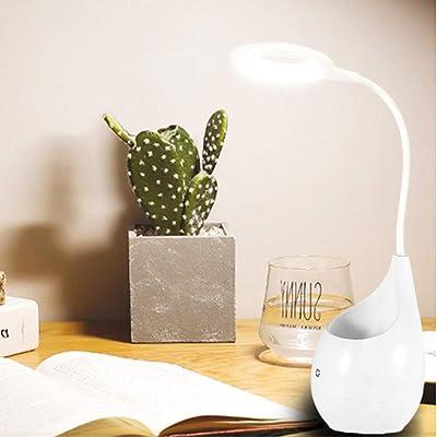 Lampe de table LED, lampe de chevet tactile de charge USB