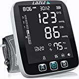 ALL NEW 2021 LAZLE Blood Pressure Monitor - Automatic Upper Arm Machine & Accurate Adjustable Digital BP Cuff Kit - Largest Backlit Display - 200 Sets Memory, Includes Batteries, Carrying Case