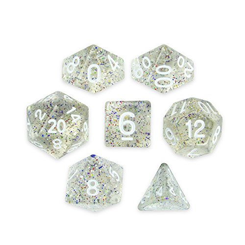 Brybelly Series III Wiz Dice Set of 7 Polyhedral Dice (Sparkle Vomit)