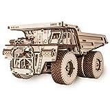 EWA Eco-Wood-Art- camión 75600-Rompecabezas mecánico 3D de Madera-Rompecabezas para Adultos y Adolescentes-Montaje sin pegamento-307 Piezas, Color Naturaleza (BELAZ 75600)