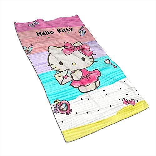 KENBOB Color Hello Kitty Toalla de Mano de Secado rápido súper Absorbente Suave/Toalla de baño/Toalla de Playa
