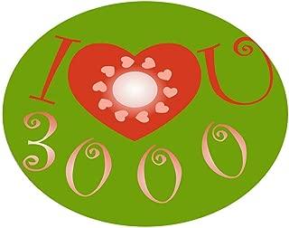 CANAFA Area Rug I Love You Three Thousand Text Carpet Children's Room Home Decoration