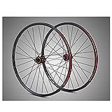 Ruedas de 29 'con ruedas de bicicleta de montaña de cuatro palos de fibra de carbono, 8,9,10,11 tipo de cassette de velocidad, llantas XC de disco de doble pared (29' delantero + trasero),Negro