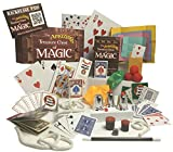 The Amazing Treasure Chest of Magic - Magic Kit with Magic Cards, Coins, Balls, Color Changing Scarves, Rising Wand and More - Complete Course with Video Lessons
