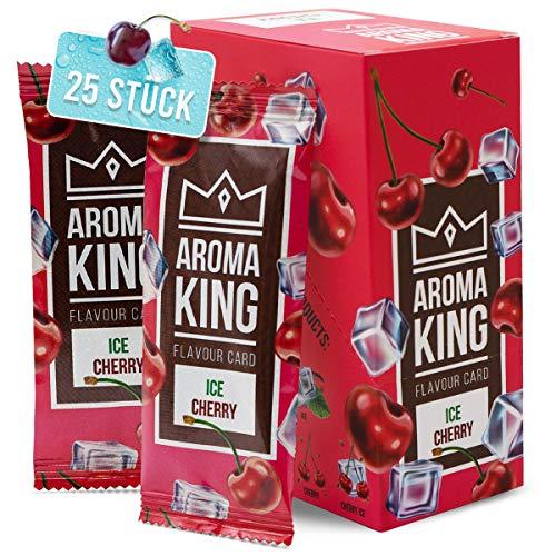 Aroma King - Premium Cherry Ice Aromakarte 25er Set | Kirsch Karte für unvergesslichen Flavour Geschmack | inkl. Schachtel zur Aufbewahrung der Kirsche Ice Blättchen Karten