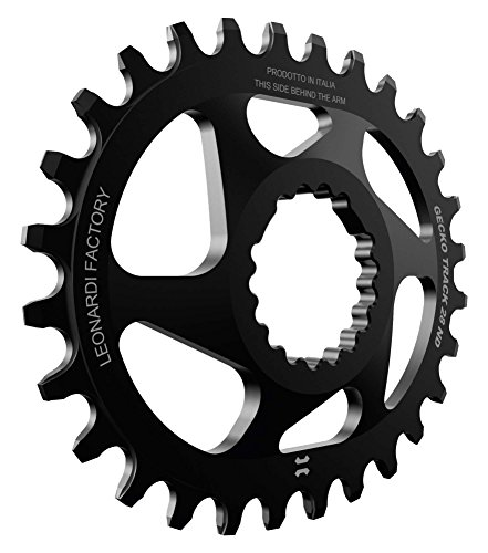 Leonardi Factory Gecko Track Oval Cannondale Offset 0–Kettenblatt, schwarz 32 schwarz