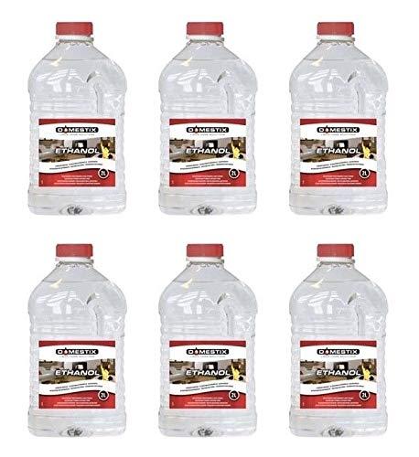 6x 2 LT Bioetanolo Bio Ethanol Etanolo Combustibile Liquido Inodore Per Stufe Domestix Qlima