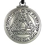 Pewter Pentacle of The Sun Key of Solomon Talisman Pendant