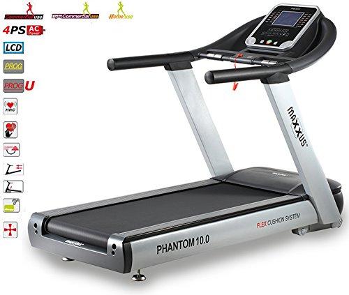 Studio-Laufband MAXXUS PHANTOM 10.0 - XXXL-Lauffläche, bis 25km/h. Extrem robustes Laufband mit Trainingsprogrammen, elektr. Steigungsverstellung.