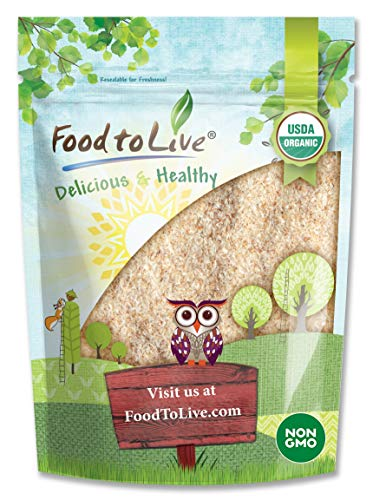 Organic Whole Psyllium Husks, 4 Ounces - Non-GMO Flakes, Vegan, Kosher, Keto Friendly, Raw, Unsweetened, Unflavored, Bulk, Rich in Dietary Fiber, Natural Food Thickener, Great for Baking, Plant Based