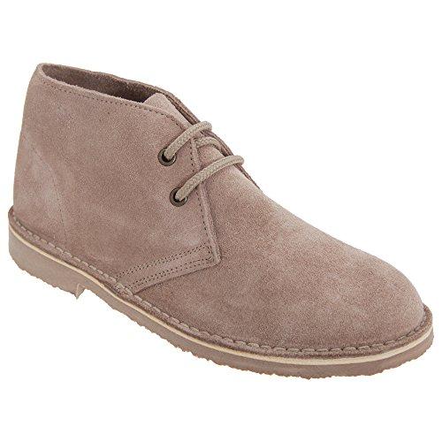 Roamers Damen Desert Boots/Wüstenstiefel/Schuhe, Wildleder, ungefüttert (41 EU) (Helles Taupe)