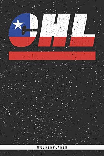 CHL: Chile Wochenplaner mit 106 Seiten in weiß. Organizer auch als Terminkalender, Kalender oder Planer mit der chilenischen Flagge verwendbar