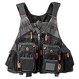 Lixada Fly Fishing Vest Multi-Pockets Jacket Breathable Mesh Fishing Vest