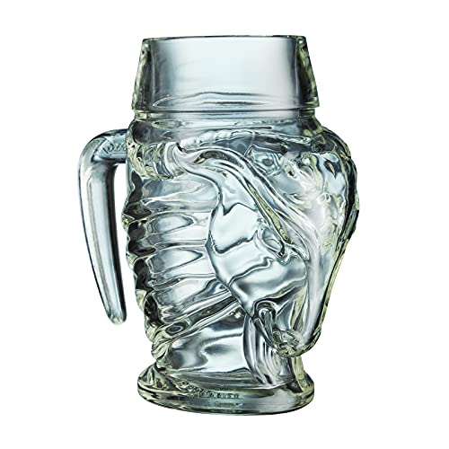 6 Stück Gehörntes Bock Henkelglas Kozel 0,5 l Halbliter Glas Bierglas Humpen Seidel Gläser Tschechien