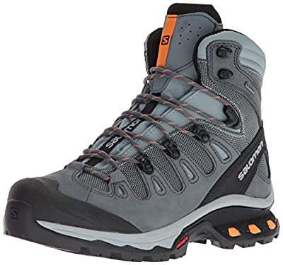 Salomon Women's Quest 4D 3 GTX Backpacking Boots, Lead/Stormy Weather/Bird Of Paradise, 8.5