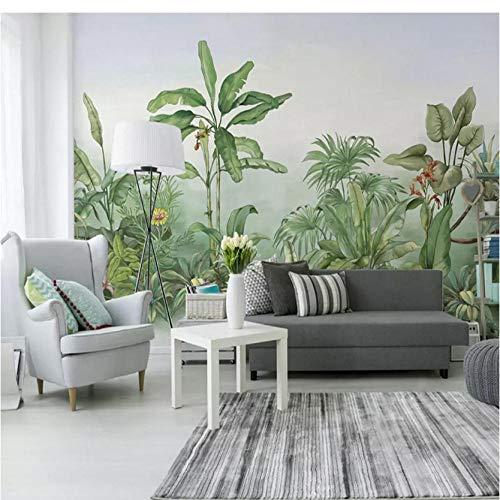 3d wallpaper moderne grüne blätter bananenpflanze wandbilder wohnzimmer tv sofa schlafzimmer wohnkultur hintergrund tapeten für wände 3 d-300 * 250cm