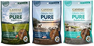 CANIDAE Grain Free PURE Heaven Biscuits 3 Flavor Variety (3 Pack)