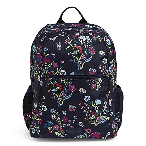 Vera Bradley Women's Recycled Lighten Up Reactive Grand Backpack, Itsy Ditsy Floral, One Size