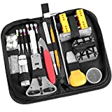 Ohuhu 174 PCS Watch Repair Tool Kit, Case Opener Spring Bar Watch Band Link Tool Set With Carrying Bag, Replace Watch Battery Helper Multifunctional Tools With User Manual For Beginner