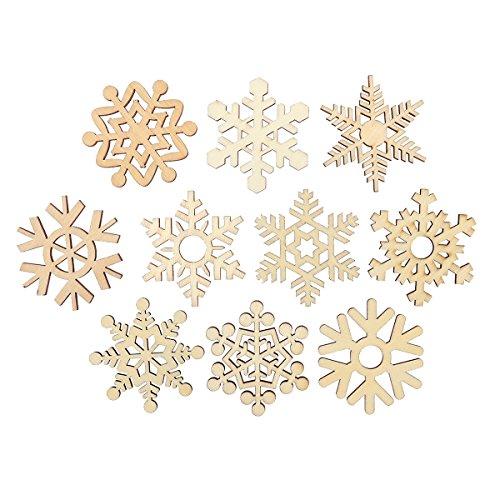 10 stücke Verschiedene Weihnachten Holz Schneeflocke Ausschnitte Handwerk Geschenk Tag Holz Ornament DIY für Weding Weihnachten
