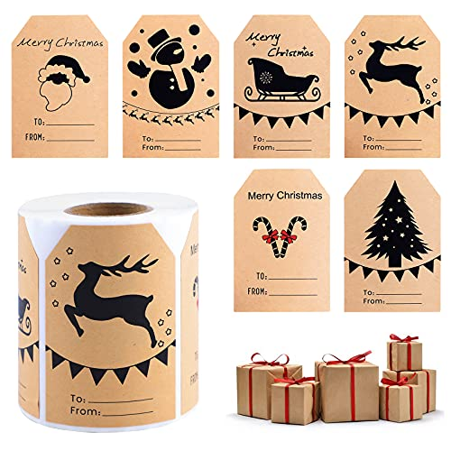 Etiquetas Navidad Regalo Adhesivas Marca Jodsen