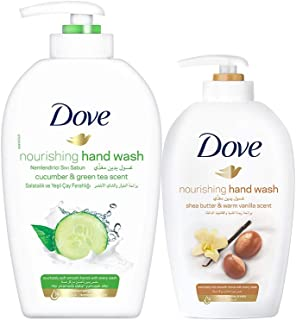 Dove Go Fresh Hand Wash Fresh Touch, 500ml + Dove Purely Pampering Hand Wash Shea Butter 220 ml Free