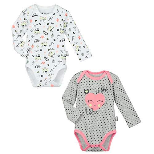 Lot de 2 bodies bébé fille manches longues Mini Girl - Taille - 36 mois (98 cm)