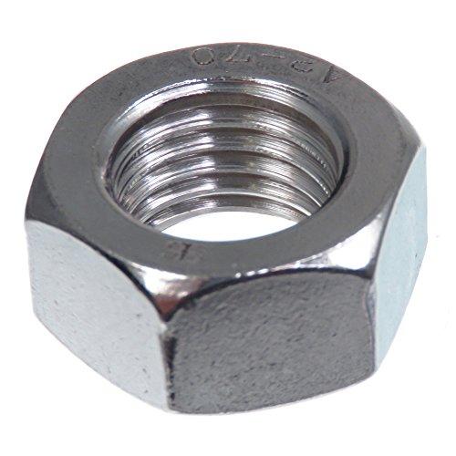 SECCARO Mutter M16, Edelstahl V2A VA A2, DIN 934 / ISO 4032, Sechskant, 20 Stück