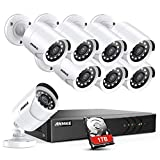 ANNKE 8CH Security Surveillance System H.264+ 1080P Lite Wired
