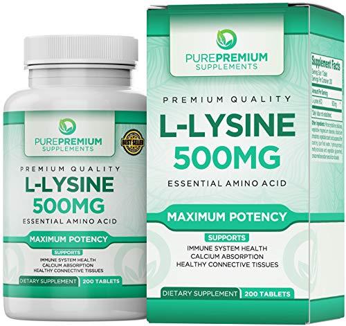 Premium L-Lysine by PurePremium (Maximum Strength) Essential Amino Acid - Support Immune System...