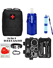 Military Tactical First aid Kit-EMT Pouch IFAK Bag Trauma Supplies Kit,Emergency Survival Kit for Camp,Hunt,Boat,Adventure,Vehicle Travel,Car Trip First Responder