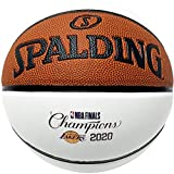 Los Angeles Lakers Unsigned Spalding 2020 NBA Finals Champions White Panel Basketball - Unsigned NBA Basketballs