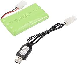 Kreema 9.6 V 2400 mAh AA NI-MH Batería Recargable + Puerto KET-2P a Cable USB para Coche Barco Modelo Juguetes Iluminación