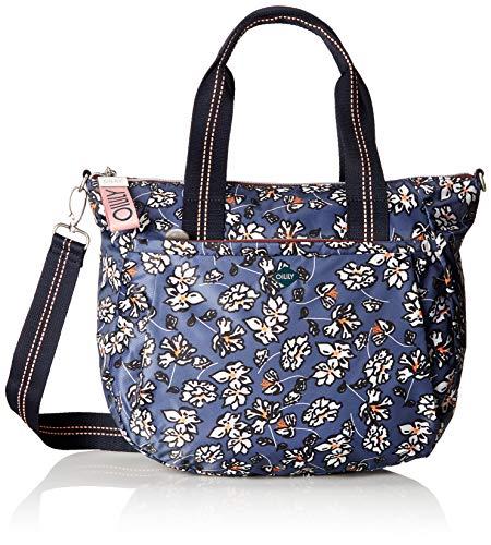 Oilily Damen Groovy Handbag Mhz Henkeltasche, Grau (Grey), 40x34x15 cm